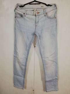 Mango Acid Washed Denim Pants