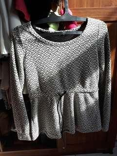 ATASAN Taiwan Long Peplum Shirt