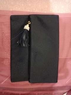 Tassel Folded Clutch Navy