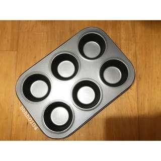(9成新) 三能 UN11006 6連馬芬蛋糕烤盤 烘焙模具