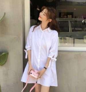 Korean White Shirt Dress cute sweet style fashion princess doll