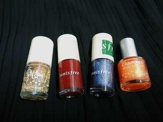 指甲油 nail polish /etudehouse/innisfree/canmake