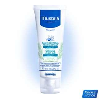 Brand New Mustela Soothing Chest Rub Made in France Perfect for baby stuffy nose, cold, cough, cranky days! 40ml