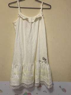 Hello Kitty 背心裙, 8成新,可較長短,100%全棉