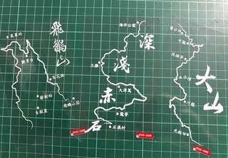 地圖 靜電貼