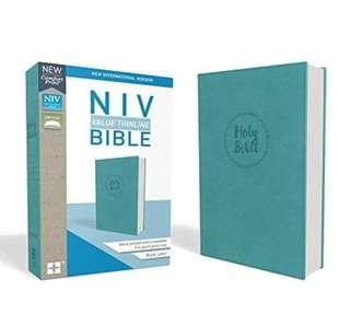 (SOLD) BN NIV, Value Thinline Bible, Leathersoft, Teal Blue, Comfort Print ~ 9.4pt print size