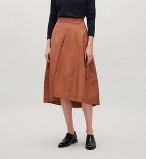COS A-Line Skirt with Front Pleat