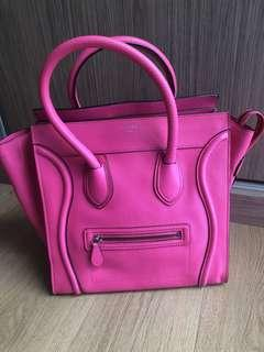 Celine Mini In Fluo Pink