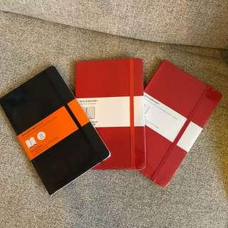 Moleskine memo note book x3