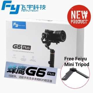 Feiyu G6 Plus (Foc Extension Rod+Mini Tripod+Phone Adaptor)/Ready Stock!!