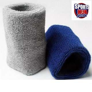 🚚 Absorbent Sweat Wristband - 10cm x 8cm Sold in Pairs