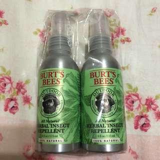 🚚 Burt's Bees 檸檬草防蚊液115ml/2入
