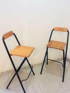 Moving House Clearance: 2 High Chairs / Bar Chairs back rest