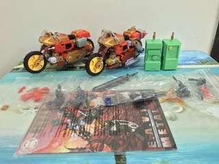 Transformers KFC EAVI Masterpiece Junkion Crash Hog MP Wreckgar and Dumpyard MP Junkheap