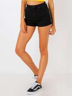 Black abrand shorts