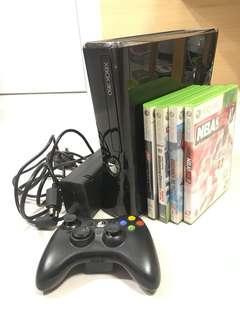 xbox360 xbox 360 slim 250GB 主機套裝 wireless controller 震動手掣 +4 games