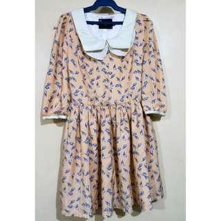 Peach Peter Pan Collar Dress