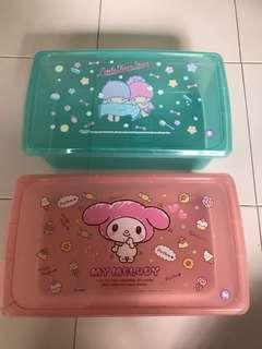 My melody/ little twin stars containers