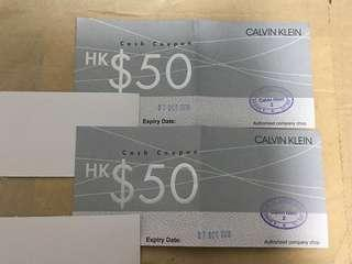 Calvin Klein cash coupon