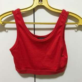 BNWT Topshop Cropped Elastic Banded Top