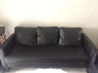 sofa set hitam