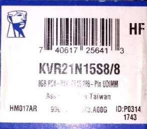 Kingston 8GB PC4-2133 memory