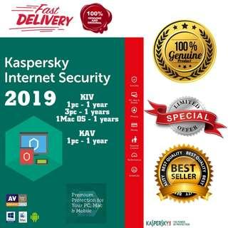 (ORIGINAL) GENUINE KASPERSKY INTERNET SECURITY & ANTIVIRUS MAC AND ANDROID #UNDER90