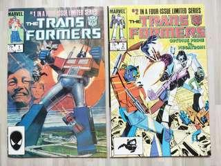 Transformer #1 and #2 (1st apperance of Optimus Prime and Megaton)