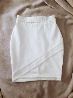 High waist wrap skirt white xs