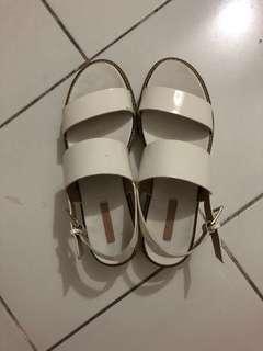Stradivarius white sandals size 39