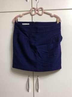 💙寶藍色斯文款短直裙🦋Indigo blue classy short skirt