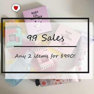 SEPTEMBER SALES! 2 FOR $9.90