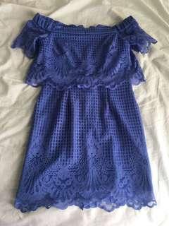Topshop off shoulder lace dress