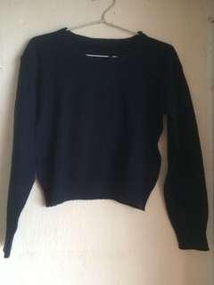 Croptee navy knit