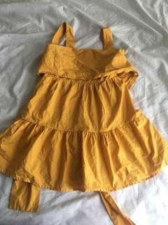 Tapas mustard dress