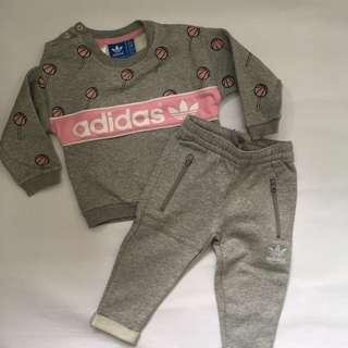 100% Authentic Adidas Girl Suit 12M-18M