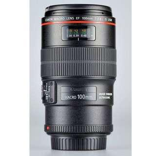 Canon lens EF 100 mm Macro 2.8L IS USM (as new)