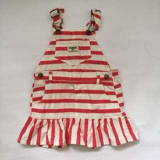 100%Authentic Preloved Oshkosh Overall Dress 2T