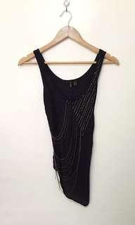Mango asymmetrical top with chain details