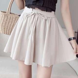 Elastic Pleated Mini Dress