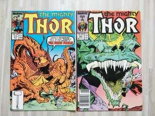 Mighty Thor #379 and #380