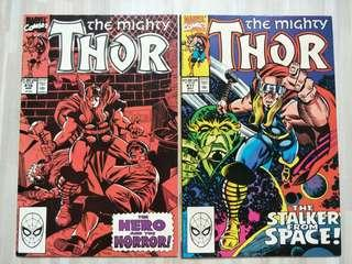 The mighty Thor Comics #416 and #417