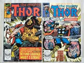 Marvel comics The Mighty Thor #414 and #415