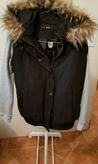 Pepper mayo fur jacket