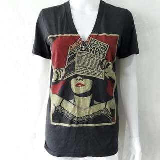 Gray Vintage v neck shirt