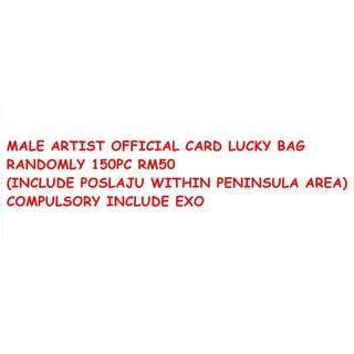 [CARD LUCKY BAG]150PC OFFICIAL/ORIGINAL CARD/PHOTO OF MALE ARTIST LUCKY BAG =RM50 (PRICE INCLUDED POSLAJU SHIP WITHIN PENINSULA AREA)