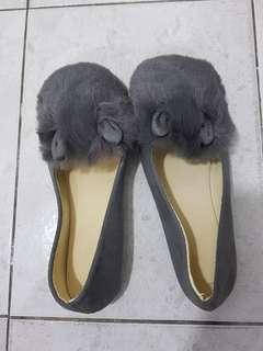Korean Rabbit Ear Fluffy flat