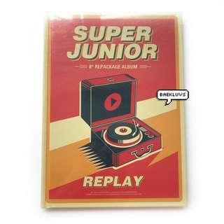 [SEALED INSTOCKS / W POSTER] Super Junior Replay