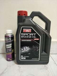 Motul 5W30 Engine Oil 4L +OWS Engine flush