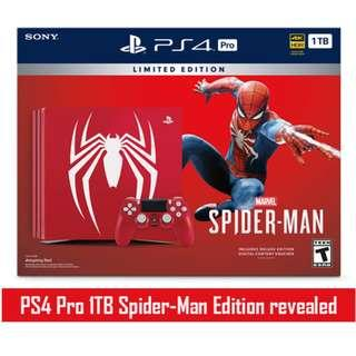 SONY PlayStation®4 Pro 1TB PS4 Pro Marvel's Spider-Man Limited Edition Spiderman #3x100